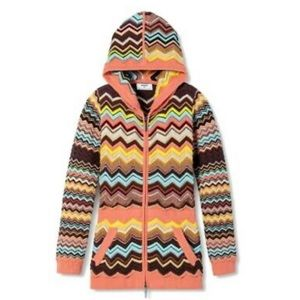 NWOT Missoni for Target • Hooded Zig Zag Sweater